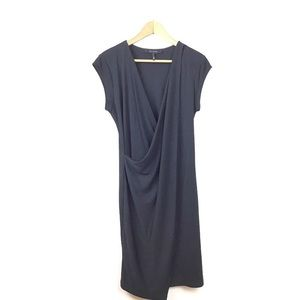 Robert Rodriguez Dress V Neck Draped Jersey Knit S